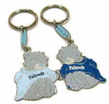 Tatty Bear Key Chain Me to You Friendship Keyrings Blue Grey 2 part Metal