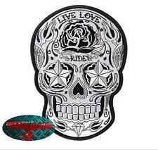 SUGAR SKULL RIDE Patch Aufnäher Aufbügler Biker Motorrad Rocker Day of the  Dead