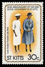 "ST. KITTS 83 (SG85) - Girl Guides ""Lady Baden-Powell's Visit, 1964"" (pf25285) NH"