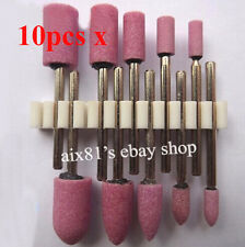 Grinding wheel Ceramic Grinding Stone Polishing Drill Bits Head 3mm handle tool