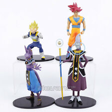Dragon Ball Z Son Goku Vegeta Beerus Whis action figures 4pcs