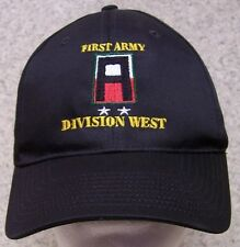 Embroidered Baseball Cap Military 1st Army Division West NEW 1 hat size fits all