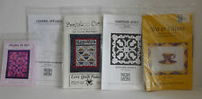 Lot of 5 Quilting Patterns Quilt Wool Felt Applique Wall Hanging - All New