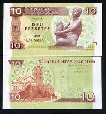 Andorra, 10 Pessetes, 2015, Private Issue, UNC
