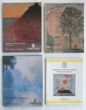 4 Christie's Art Auction Catalogs Impressionist & Modern w/ Painting (s) 1980-90