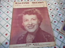 Del Wood Ragtime Melody 1951 Photo Sheet Music