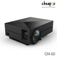 New Arrival GM60 Mini LED Projector 1000 Lumens,HDMI,VGA,AV,3D,HD TV