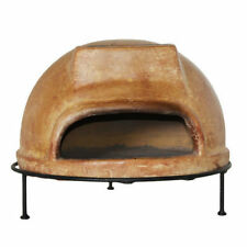 Clay Pizza Oven Rustic Liso by Ravenna Brick Wood Burning Outdoor Cooking Heater