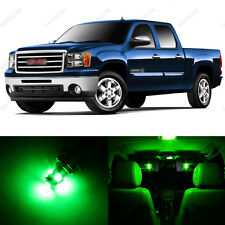 8 x Green LED Interior Light Package For 2007 - 2014 GMC Sierra
