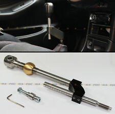 FOR 1988-2000 HONDA CIVIC BLACK DUAL BEND ADJUSTABLE HEIGHT EXTEND SHORT SHIFTER