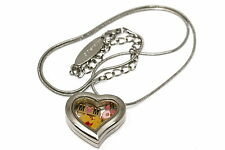 DISNEY HEART LOCKET SILVER NECKLACE FLOATING MOTHERS DAY WINNIE THE POOH CHARM