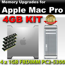 4gb (4x 1gb) ddr2 667mhz Fb Dimm Apple Mac Pro Quad Core a1186 di memoria pc2-5300f