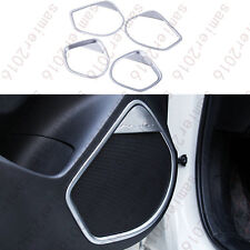 4x Chrome Inner Door Stereo Speaker Frame Cover Trim For Mazda 3 Axela 2014-2016