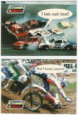 Crash and Burn Promo Trading Cards #A + #B from Cornerstone Inc. 1995