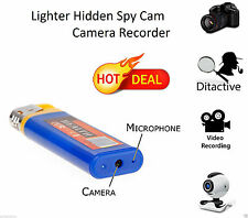 ACCENDINO MINI DV NASCOSTA FOTOCAMERA SPY CAM DVR USB Video Recorder micro SD Blu
