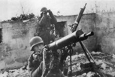 WW2 - Photo - Mitrailleuse anti-aérienne allemande en juin 1944