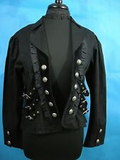 NEW XL Steampunk Buckle Jacket Funhouse Black Victorian Goth Straps Choker