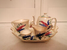 Vintage Royal Winton Delphinium Breakfast Set Tea for One Teapot