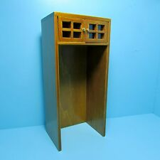 Dollhouse Miniature Kitchen Over the Refrigerator Cabinet in Walnut ~ T6735