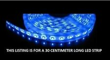 Blue 30cm 18 SMD LED Flexible Strip Light Car, Van,bike 12V custom lighting