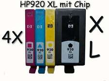 4x HP 920xl original HP cartucho con chip Refill OfficeJet 6000, 6500 W, 7000