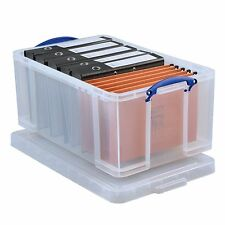 New Really Useful 64 Litre Plastic Storage Box Stackable & Clip-on lids,Recyclab
