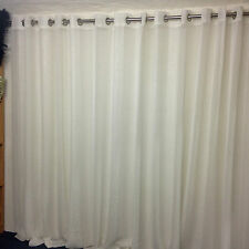 Beautiful  Sheer Eyelet Curtain 3m wide x 221 cm Drop -Quality -Nettex-Allusion