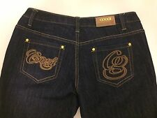 Coogi Women's Jeans Authentic Sexy Denim Blue W/Gold Trim New Without Tags 9/10