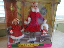 new MINT (no discolor) 1999 Mattel Holiday Sisters Gift Set Barbie Stacy Kelly
