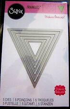 Pennant Plain Banners Sizzix Framelits 5 Triangle Thin Metal Die Set NEW!