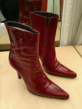 Rare Chaussures Bottines FREE LANCE Paris 650€ Leather Boots Taille EU 39.5