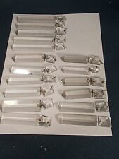 17 Victorian OLD Crystal Glass 3.5-5 inch Brilliant Cut Bar Prisms c1890s