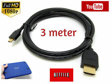 3M Micro HDMI Cable for  GoPro HD HERO4 SESSION NEWEST MODEL Hero 4 CAMERA