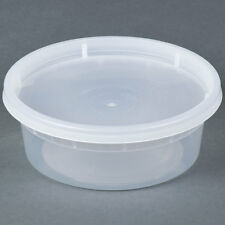 8 OZ PLASTIC CONTAINERS WITH LIDS (250 SETS) WHOLESALE DEAL