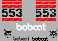 Bobcat 553 Skid Steer Decalcomania Sticker Set