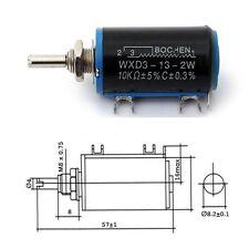 WXD3-13-2W 10K ohm Rotary Multiturn Wirewound Potentiometer AU NEW