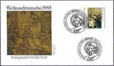 BRD 1985: NATALE! FDC n. 1267 con Bonner solo tag-SPECIALE timbri! 1a 1511
