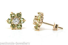 9ct Gold Peridot studs earrings Made in UK Gift Boxed