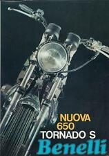 1970 Benelli 650 4-page brochure in folder + 1-page advert: 650, 750Sei, 500/4