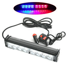 8W Car Truck Police Strobe Flash Light Dash Emergency Flashing Red/Blue 8 LED