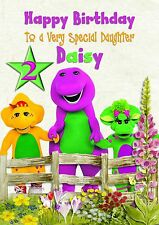 personalised birthday card Barney  grandaughter daughter grandson son b