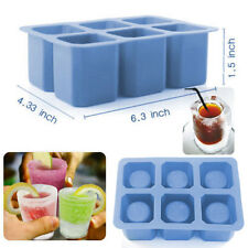 6-Cup Ice Cube Shot Shape Silicone Shooters Glass Freeze Mold Maker Tray Party