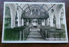 MULLION CHURCH THE KNAVE  POSTCARD
