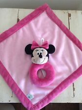 Disney Minnie Mouse Pink Rattle Lovey Blanket