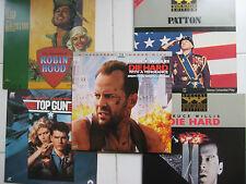 8 Action Laser Discs-Die Hard, Die Hard Vengence, Patton, Robin Hood, Top Gun +