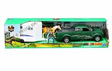 NEWRAY COUNTRY LIFE TRUCK WITH HORSE TRAILER FIGURE AND HORSE PLAYSET 37146