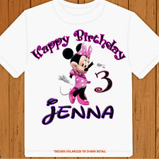 Happy Birthday Minnie Mouse - Personalized Pick Name/Age - Birthday T-Shirt Part
