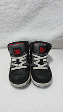 DC Rebound TODDLER Size 7 KIDS BOY'S SHOES 302990 BLACK/GRAY/RED USED