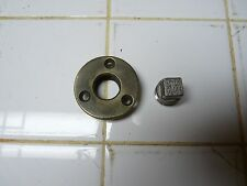 "Vintage Boat Marine Garboard Drain Plug Cast Brass Fits 1"" Dia. Stainless Plug"