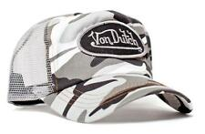 Authentic New Von Dutch Adult Gray/Camo Baseball Cap Hat Trucker Mesh Snapback